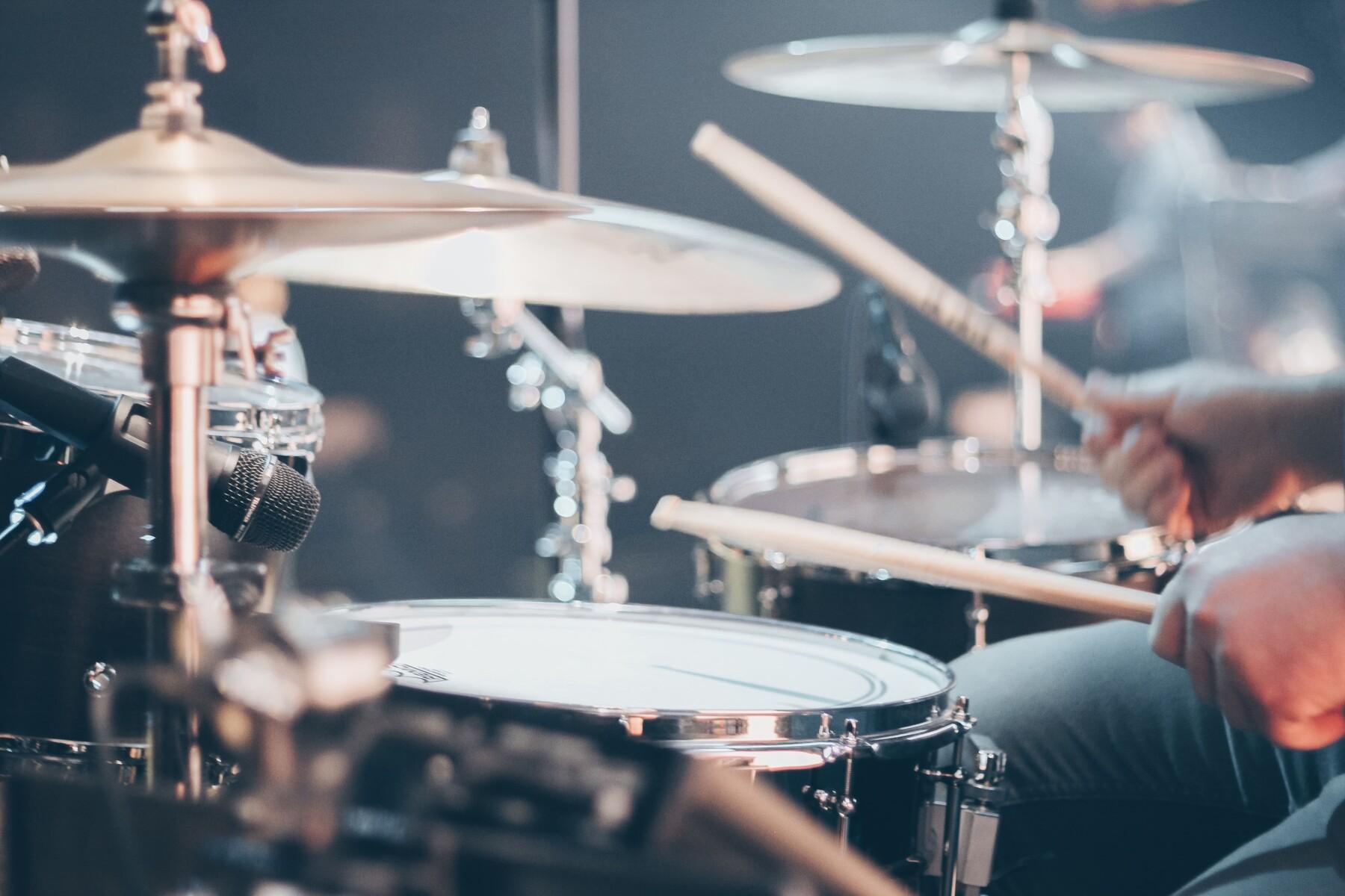 Foto van bands en drums